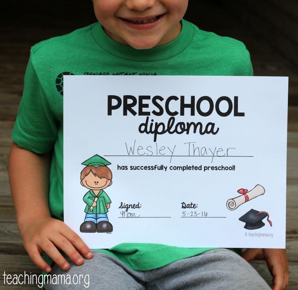 Preschool Graduation Diploma - Preschool Graduation Diploma Free Printable