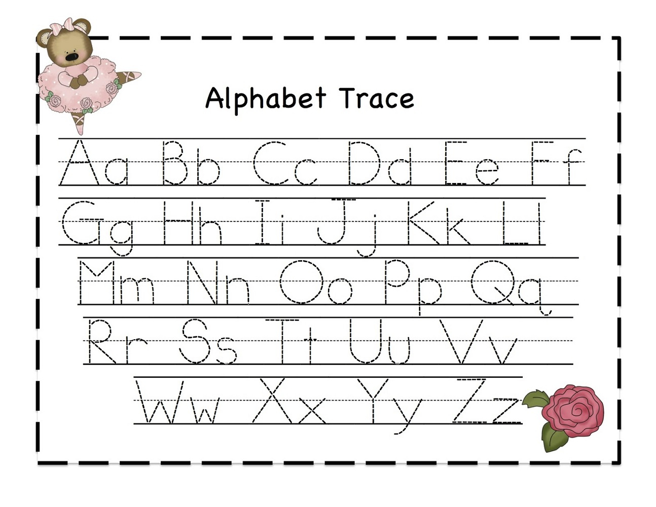 Preschool Learning Activities Printables – With Alphabet Also - Free Printable Letter Tracing Sheets