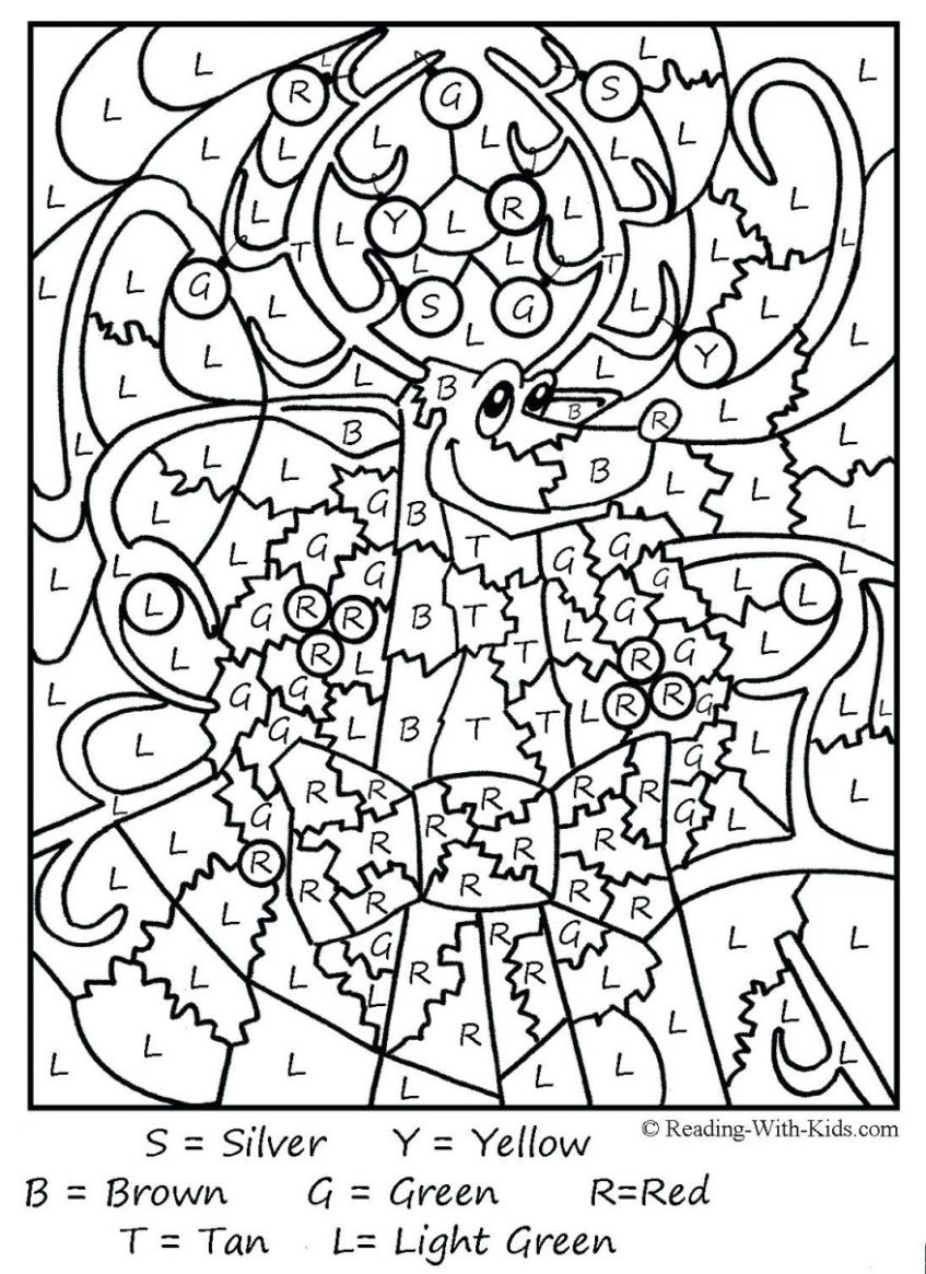 Preview Medium: Coloring Pictures For Grade Free Multiplication - Free Printable Multiplication Color By Number