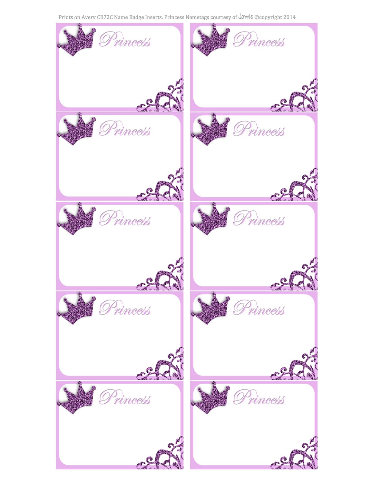 Princess Labels - Free Printable | Kids | Printables, Name Tags - Free Printable Name Tags For Students