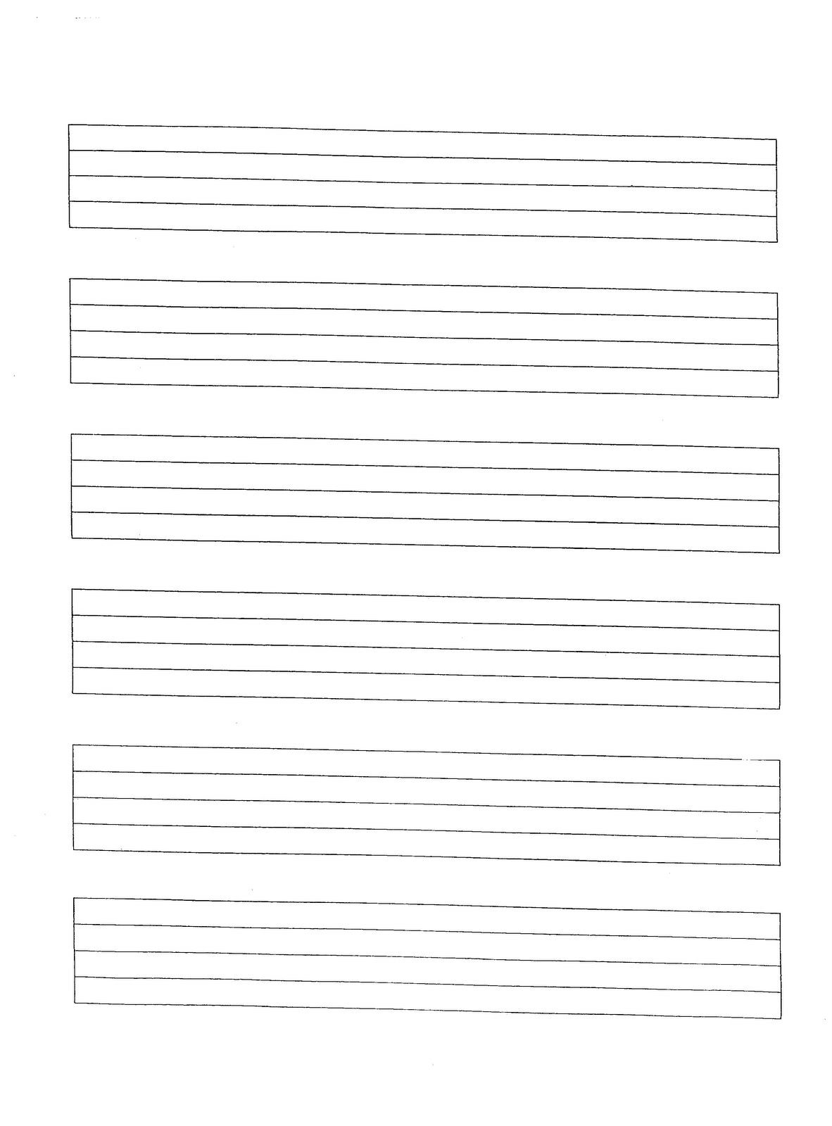 Print At 150% - Staff Paper | Miss Jacobson's Music: Manuscript - Free Printable Staff Paper