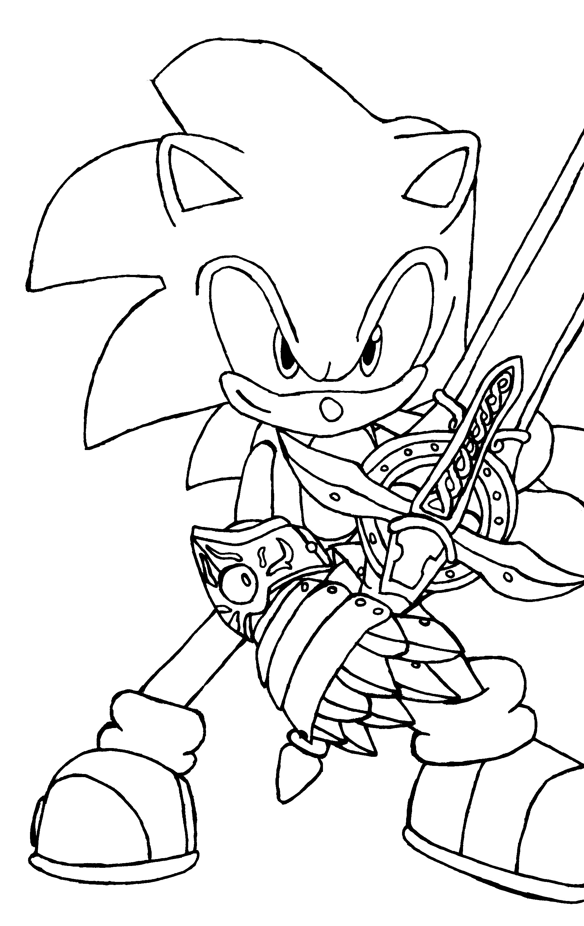 Print Pictures Of Sonic | Sonic The Hedgehog Coloring Pages Free - Sonic Coloring Pages Free Printable