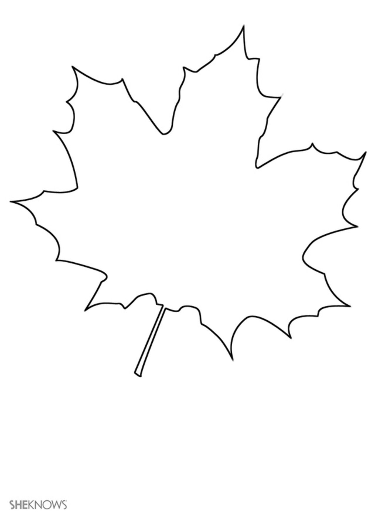Print These 17 Craft Templates For Kids For Hours & Hours Of Fun - Free Printable Leaf Template