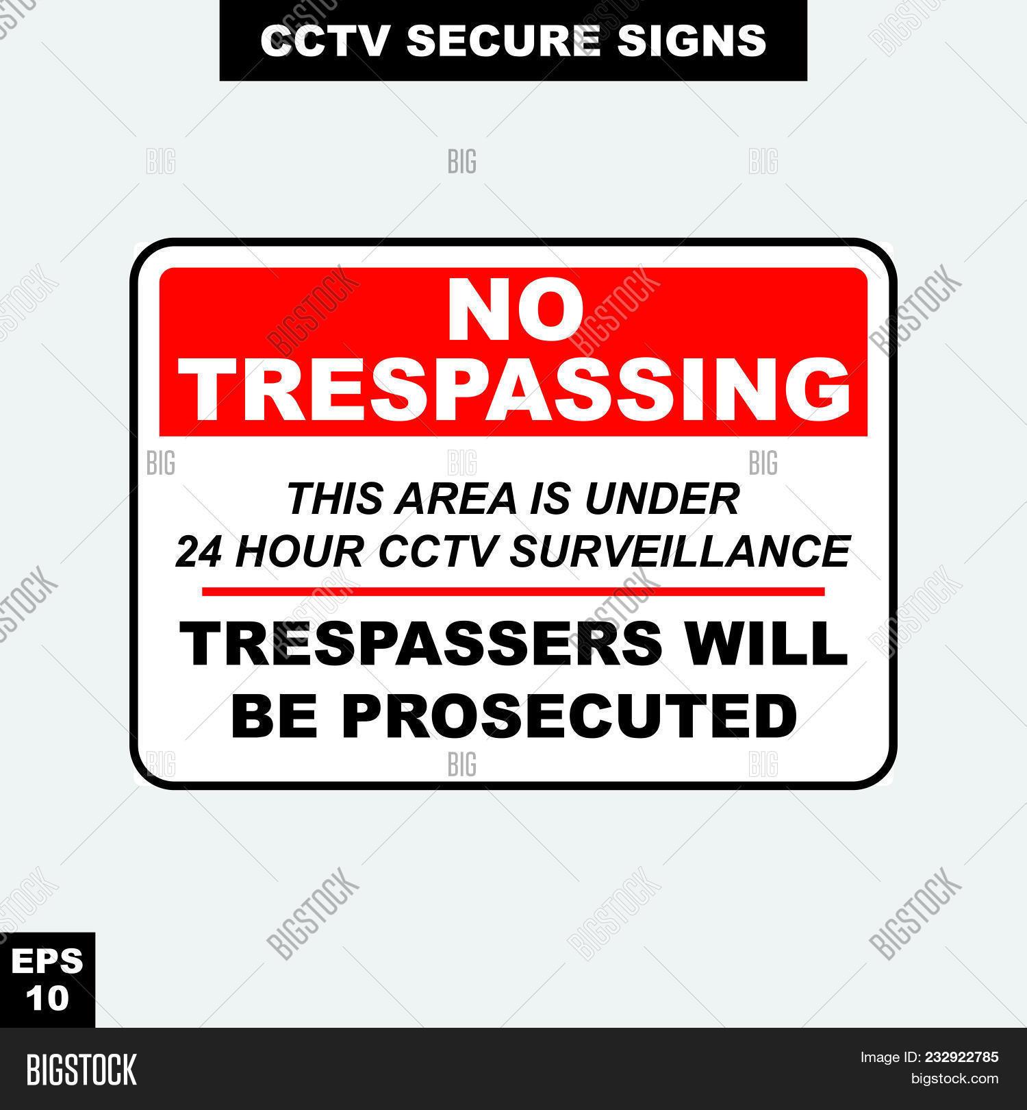 Print Vector & Photo (Free Trial)   Bigstock - Printable Video Surveillance Signs Free