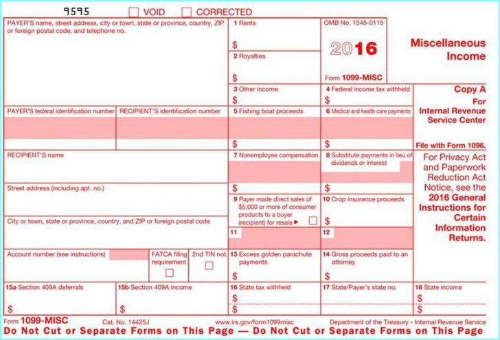 Free Printable 1099 Form