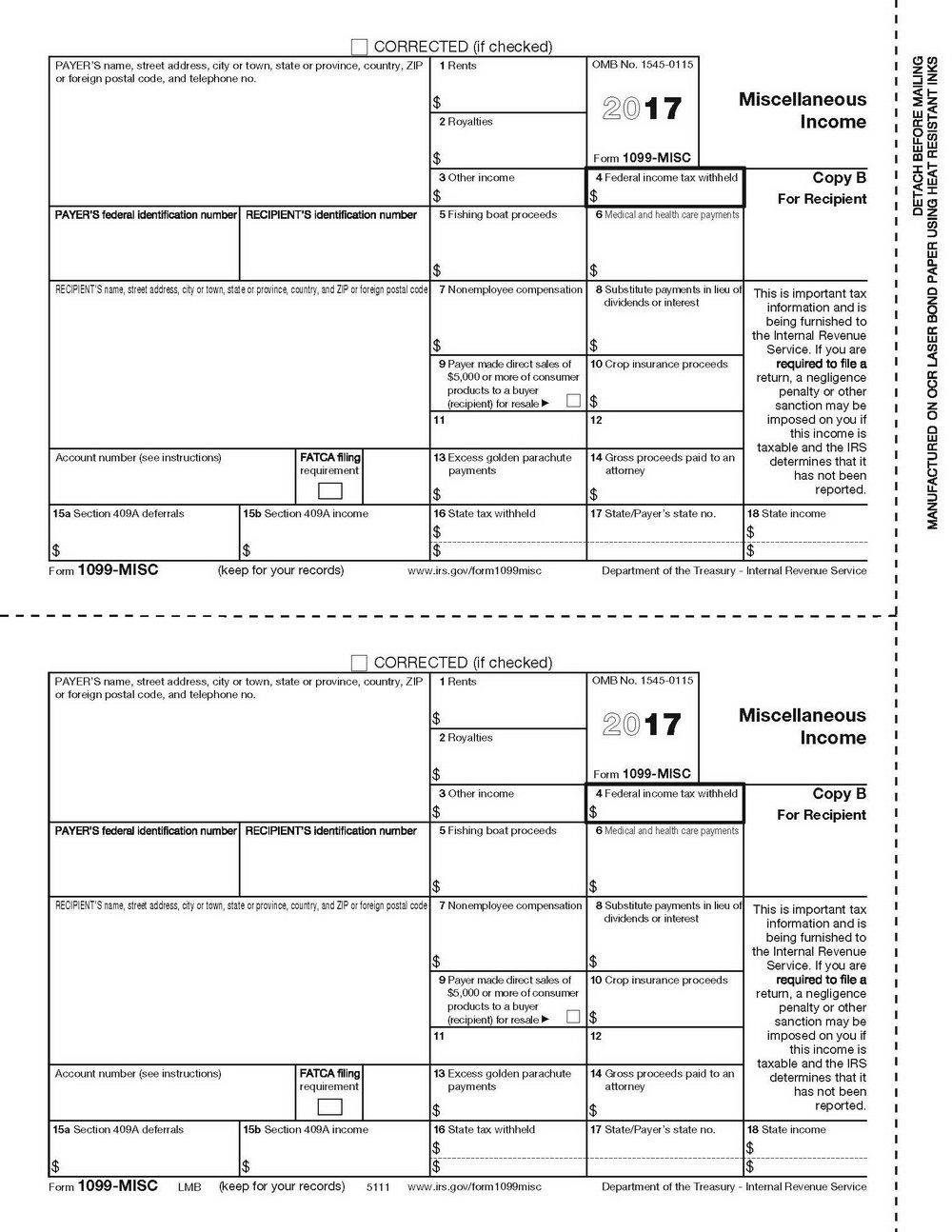 Printable 1099 Form 2017 Free   Mbm Legal - Free Printable 1099 Form