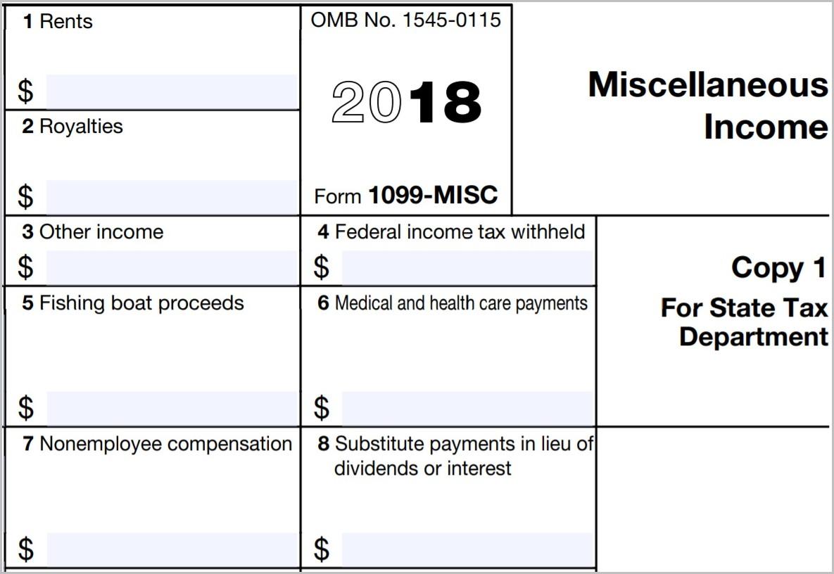 Printable 1099 Form 2018 Form : Resume Examples - Free Printable 1099 Form