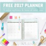 Printable 2017 Planner!   Sweet Anne Designs   Free Printable Planner 2017