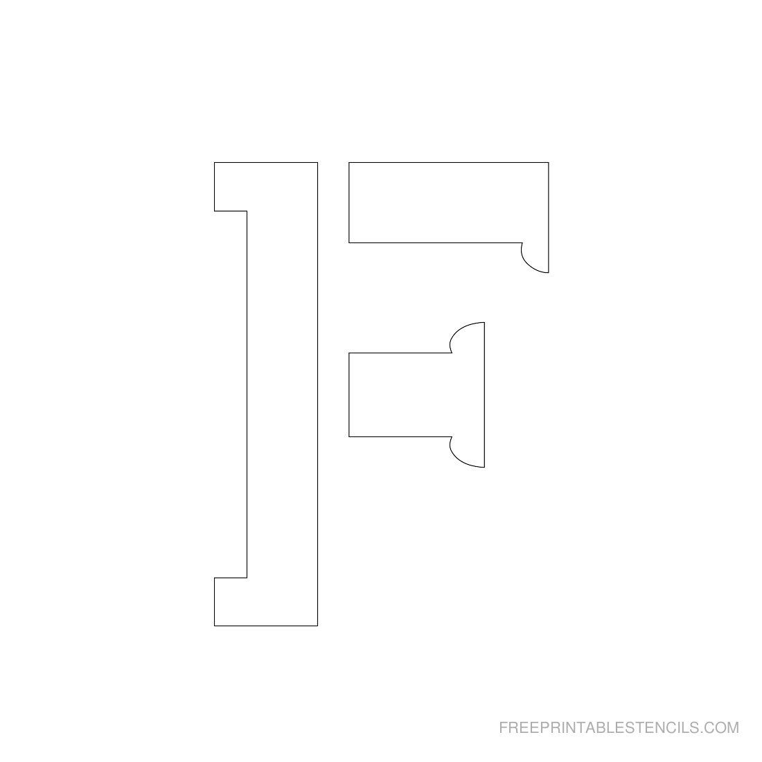 Printable 3 Inch Letter Stencils A-Z | Free Printable Stencils Com - Free Printable 10 Inch Letter Stencils