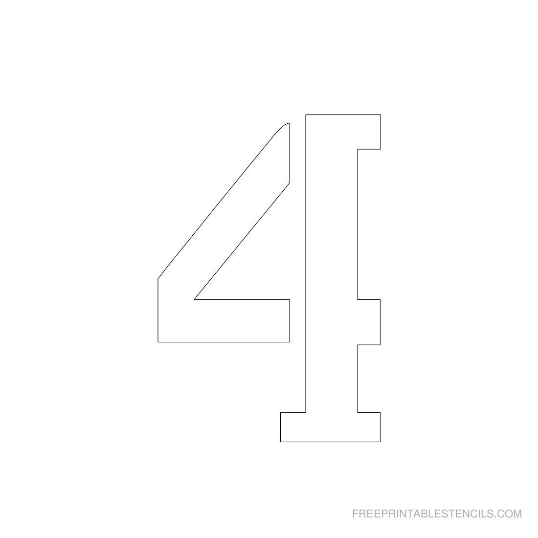 Printable 3 Inch Number Stencils 1-10 | Free Printable Stencils - Free Printable 3 Inch Number Stencils