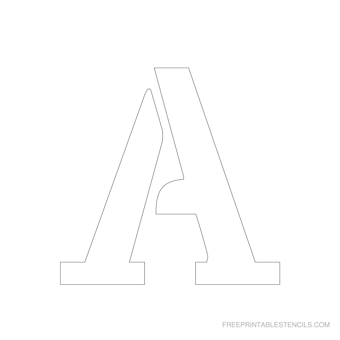 Printable 4 Inch Letter Stencils A-Z | Free Printable Stencils - Free Printable Letter Templates