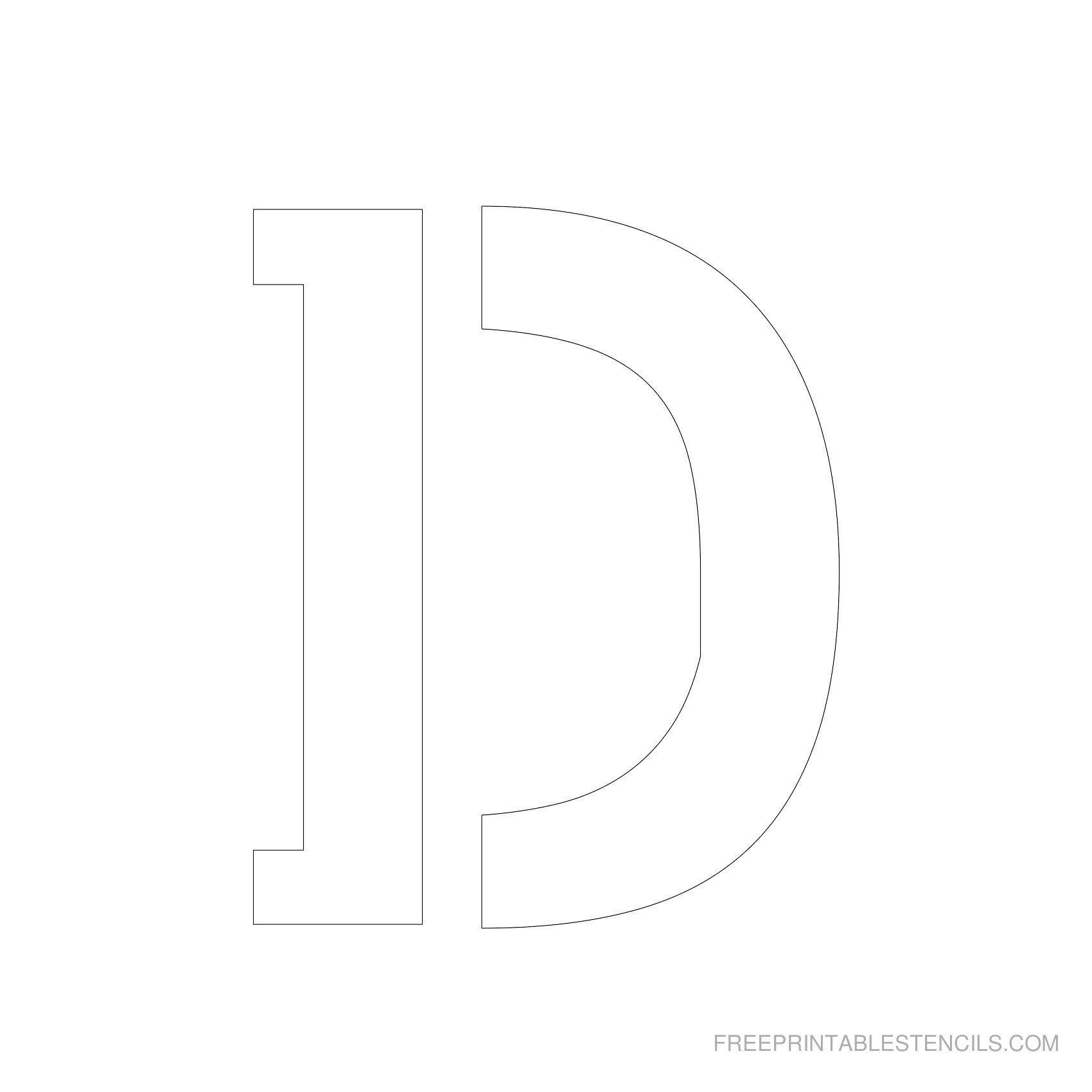Printable 5 Inch Letter Stencils | Lettering | Pinterest | Letter - Free Printable 5 Inch Number Stencils