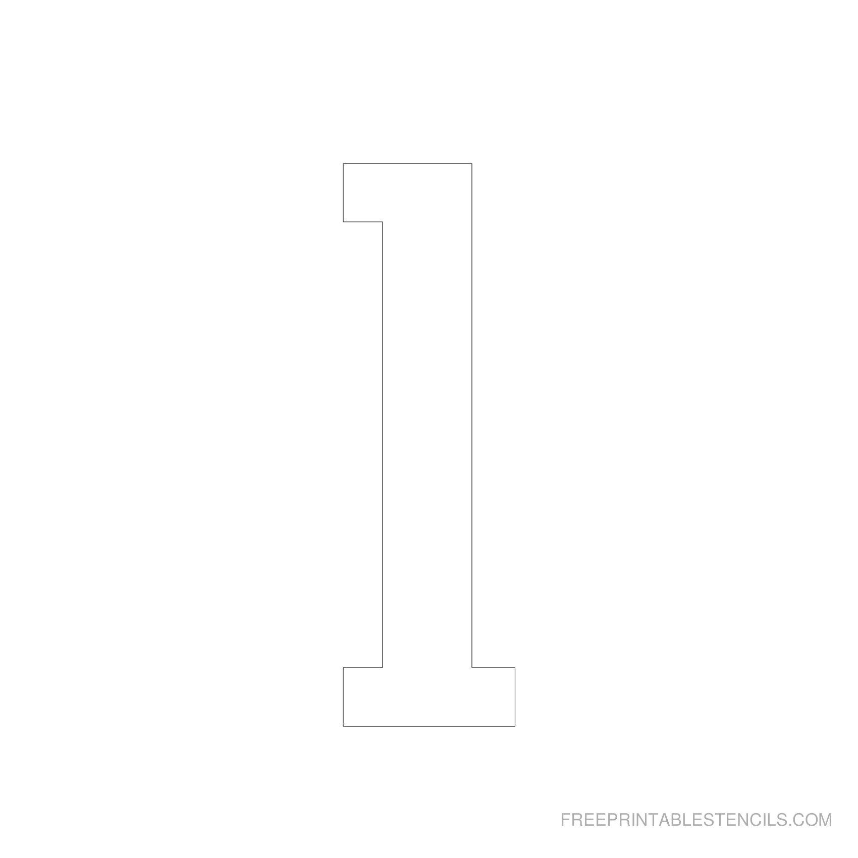 Printable 5 Inch Number Stencils 1-10 | Free Printable Stencils - Free Printable 10 Inch Letter Stencils
