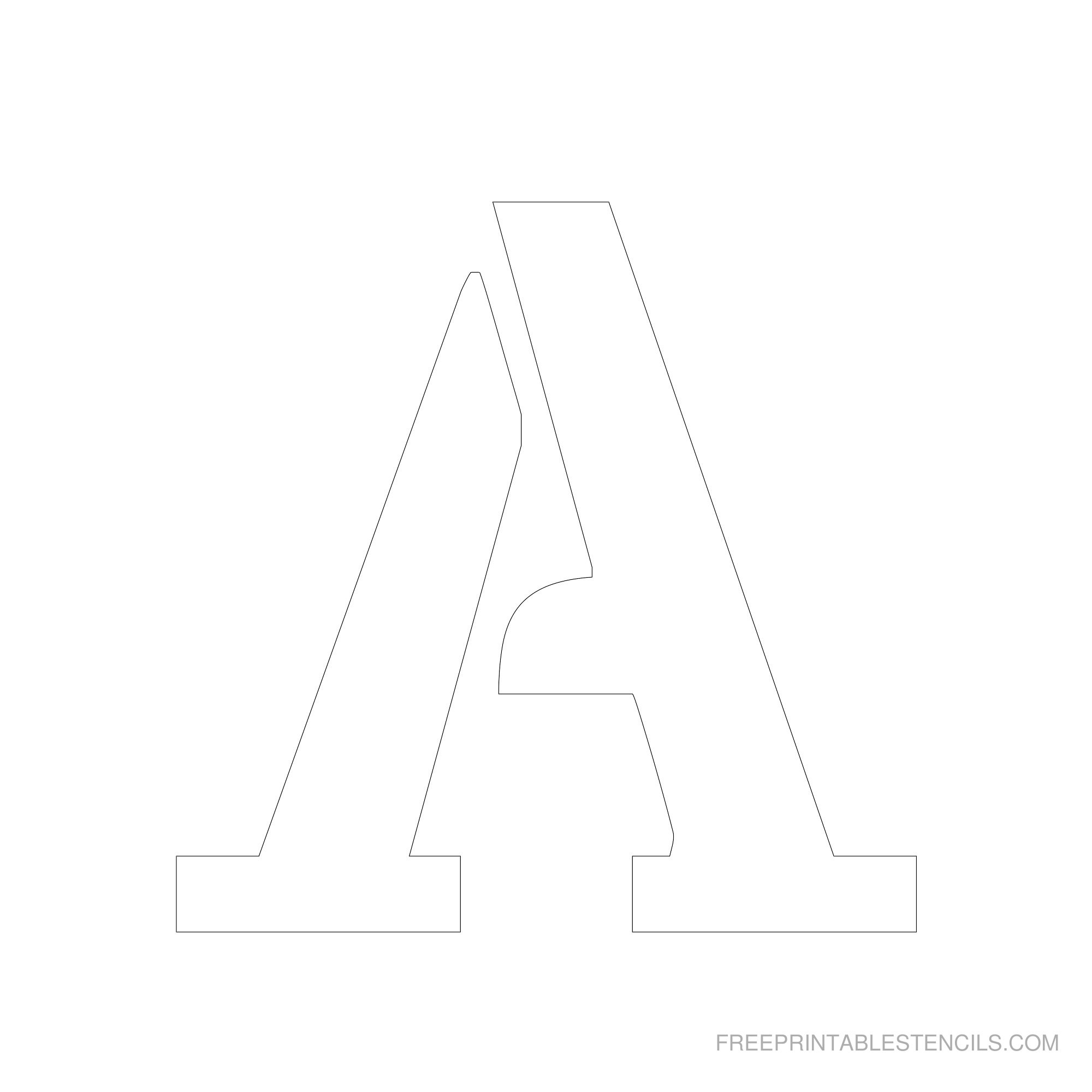 Printable 6 Inch Letter Stencils A-Z | Free Printable Stencils - Free Printable Letter Stencils
