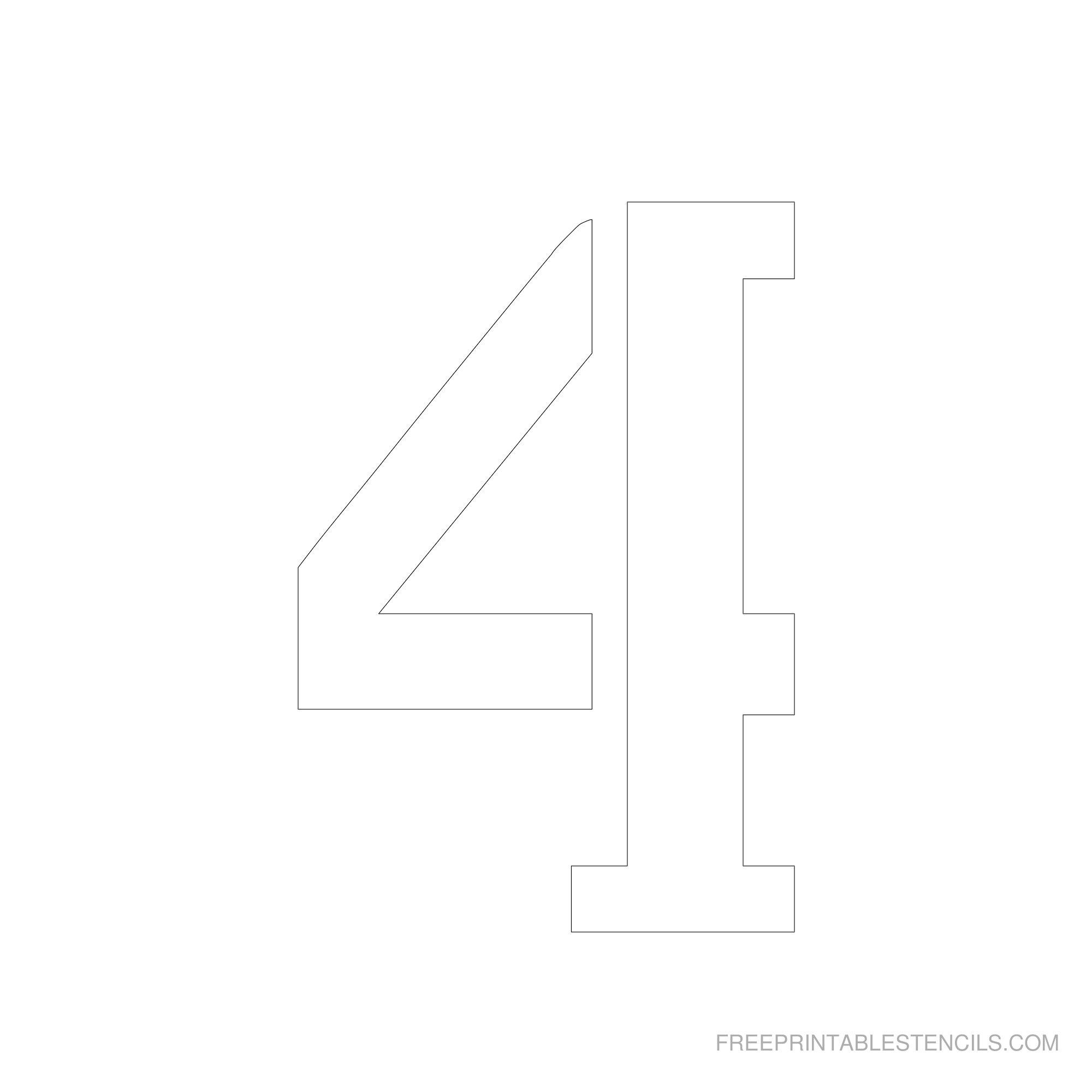 Printable 6 Inch Number Stencils 1-10 | Free Printable Stencils - Free Printable Number Stencils