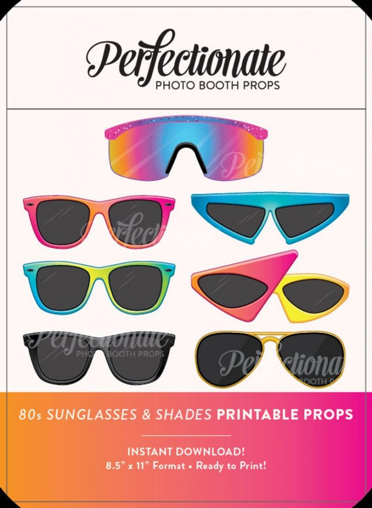80S Photo Booth Props Printable Free