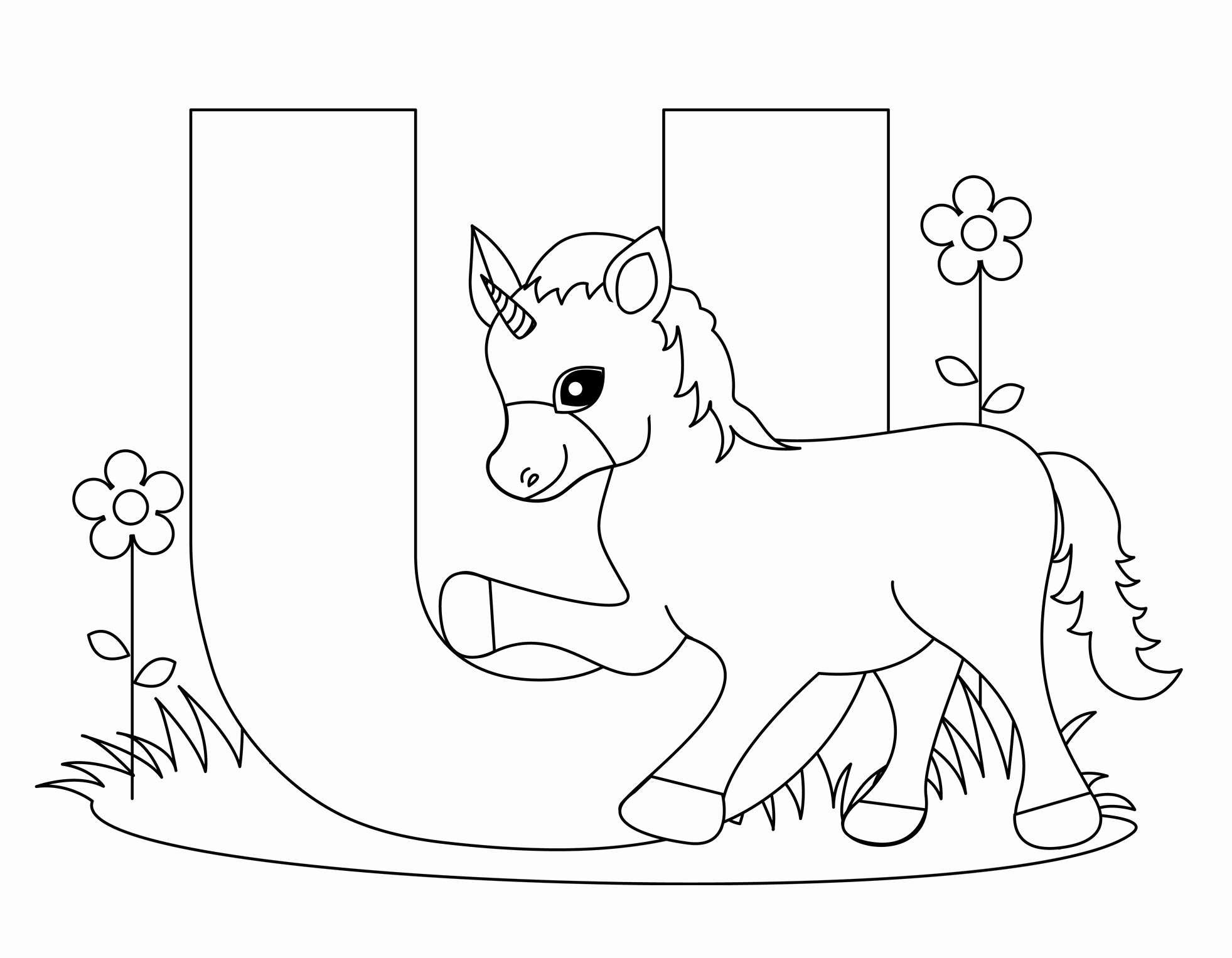 Printable Alphabet Coloring Pages | Popisgrzegorz - Free Printable Alphabet Coloring Pages