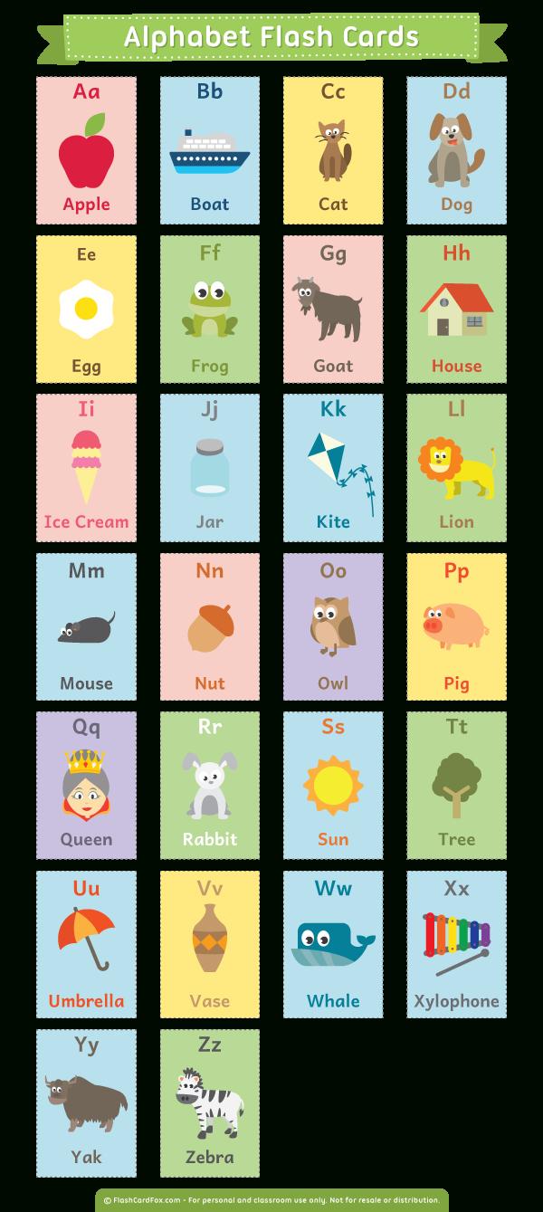 Printable Alphabet Flash Cards - Free Printable Alphabet Flash Cards