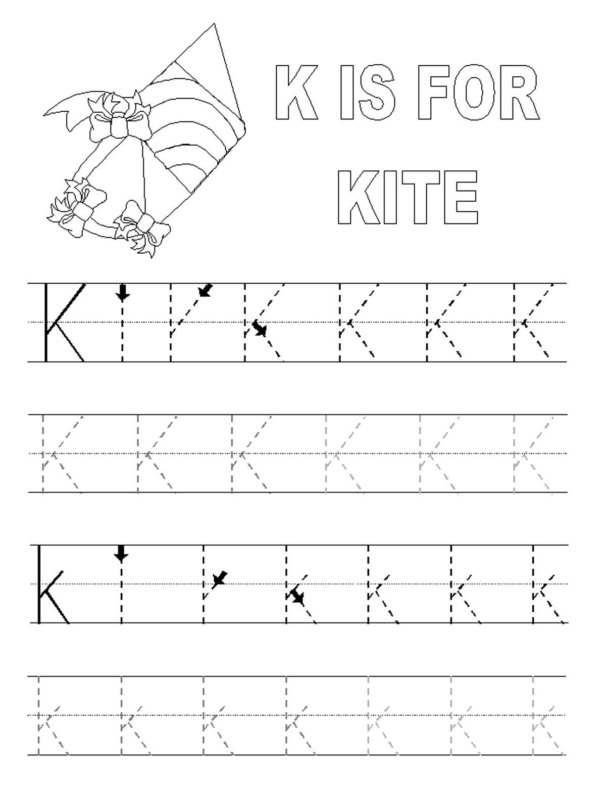 Printable Alphabet Tracing Pages | Alphabet And Numbers Learning - Free Printable Preschool Name Tracer Pages