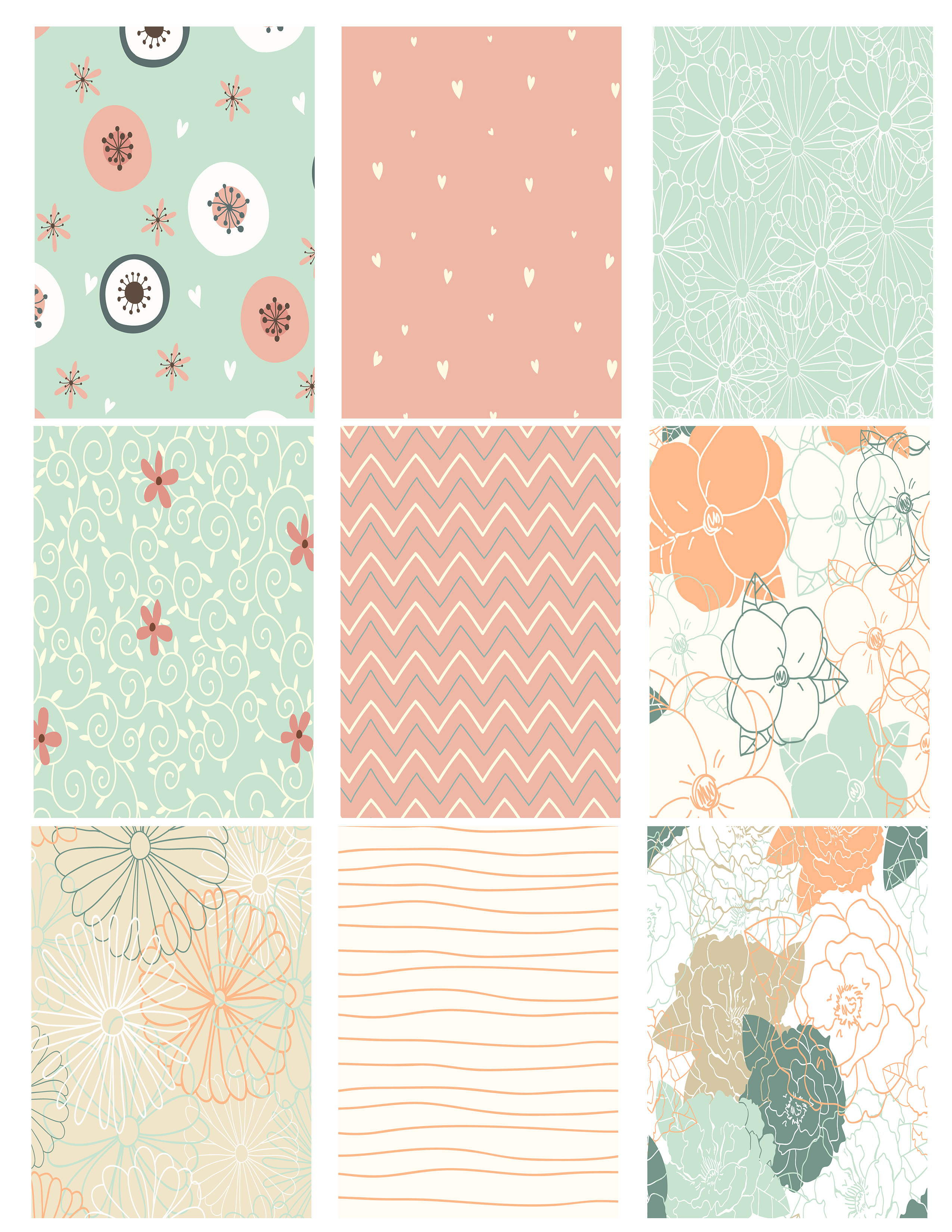 Printable Atc Background Collage Sheet - Whimsical Patterns - The - Free Printable Backgrounds