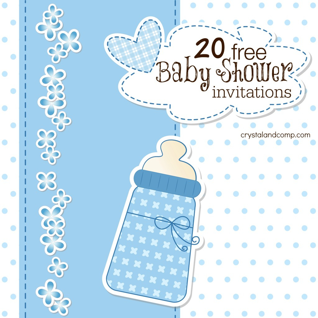 Printable Baby Shower Invitations - Free Printable Twin Baby Shower Invitations