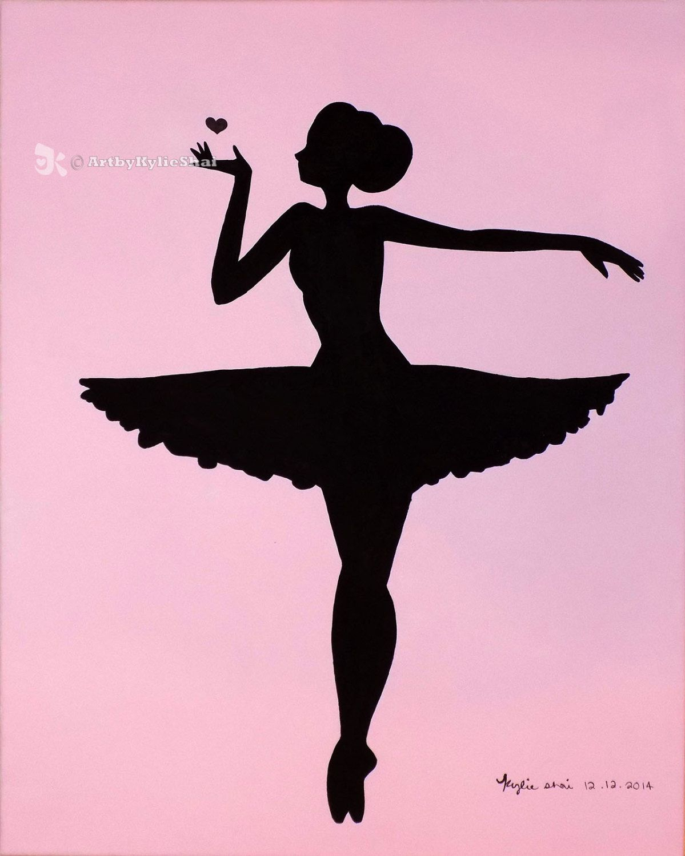 Printable (Ballerina Silhouette Pink)Artbykylieshai On Etsy | My - Free Printable Ballerina Silhouette