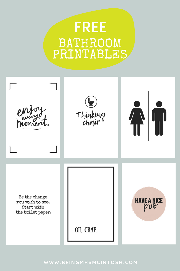 Printable Bathroom Signs | Being Mrs Mcintosh - Free Printable Funny Posters