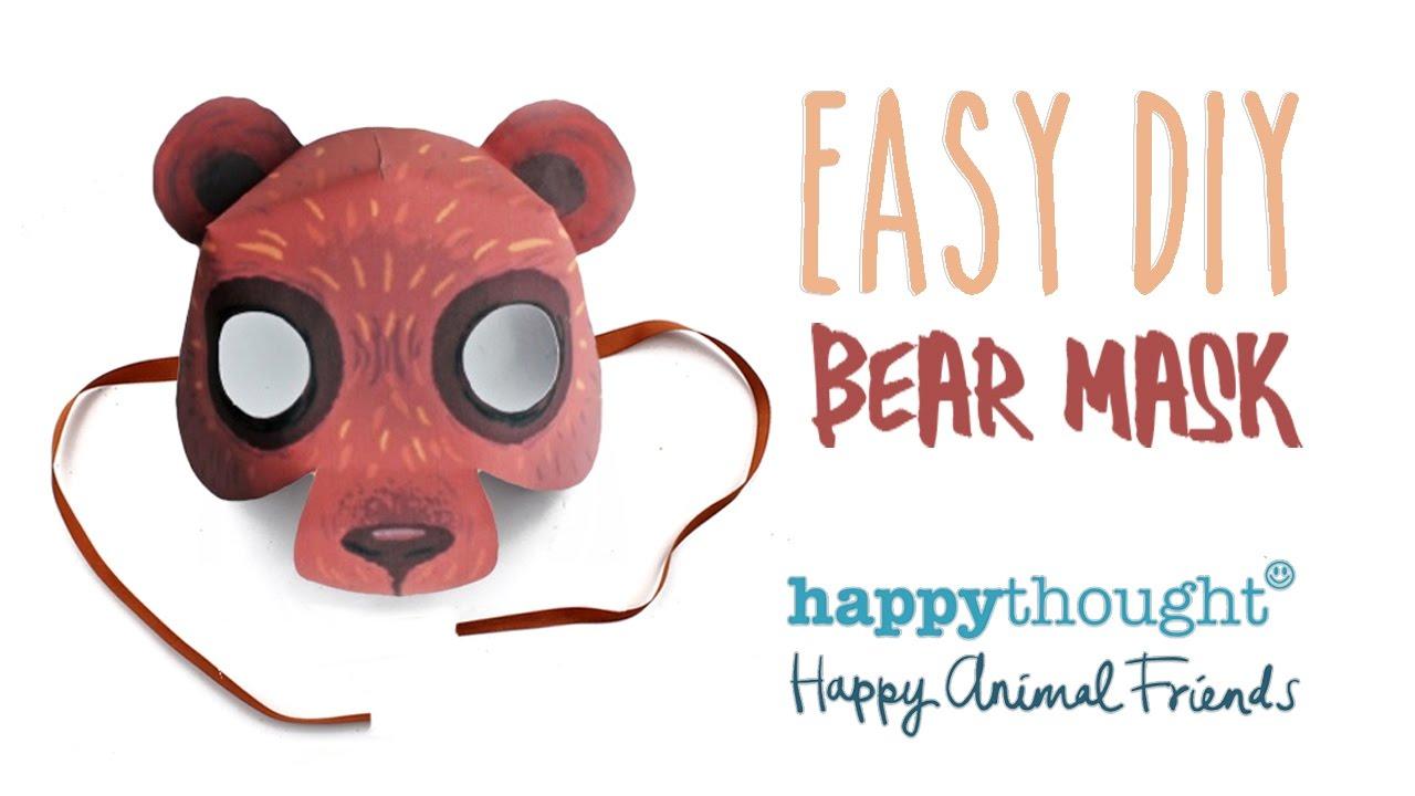 Printable Bear Mask Template + Easy Diy Costume Idea! - Youtube - Free Printable Bear Mask