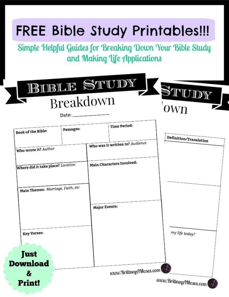 Printable Bible Study Guide | Inspirational | Pinterest | Bible - Free Printable Bible Studies For Women