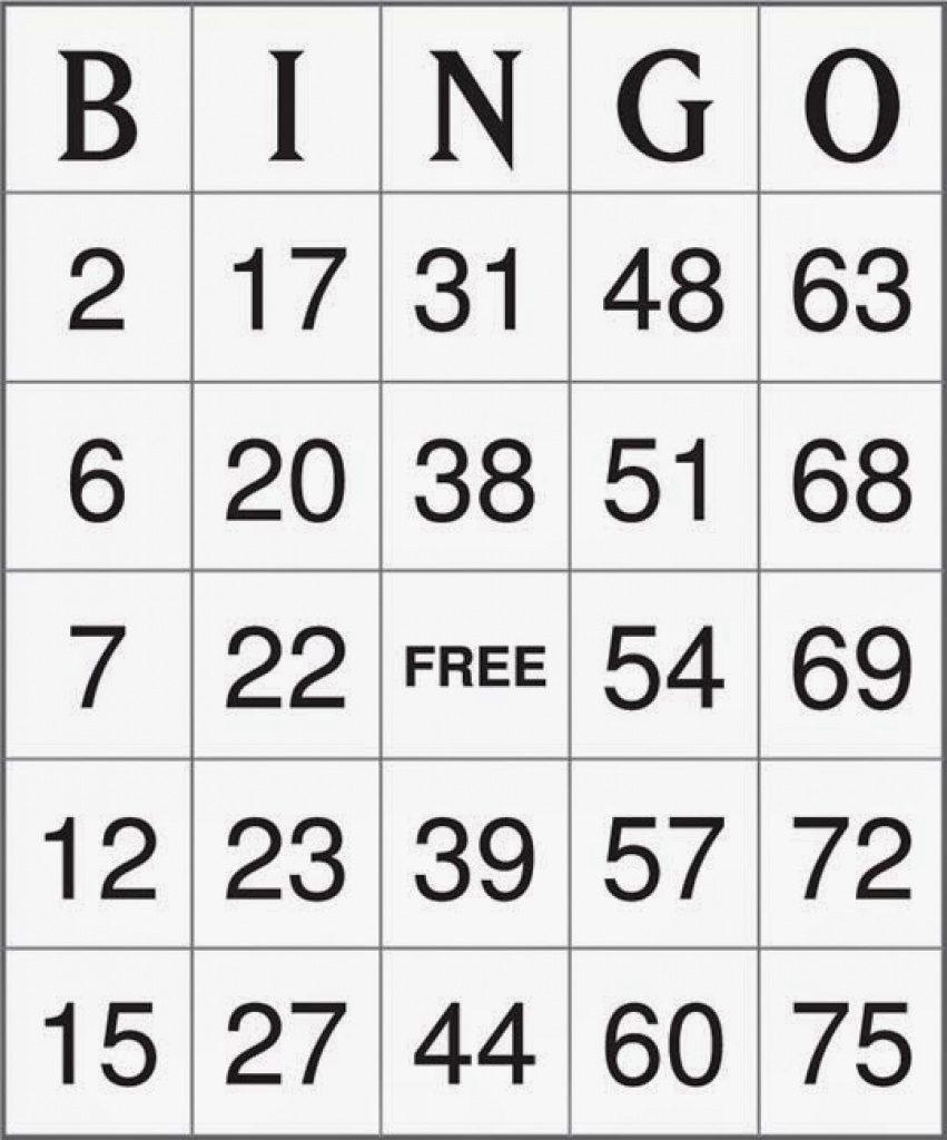 Printable Bingo Cards 1-75 - Vsmetalsgroup Within Free Printable - Free Printable Bingo Cards 1 75