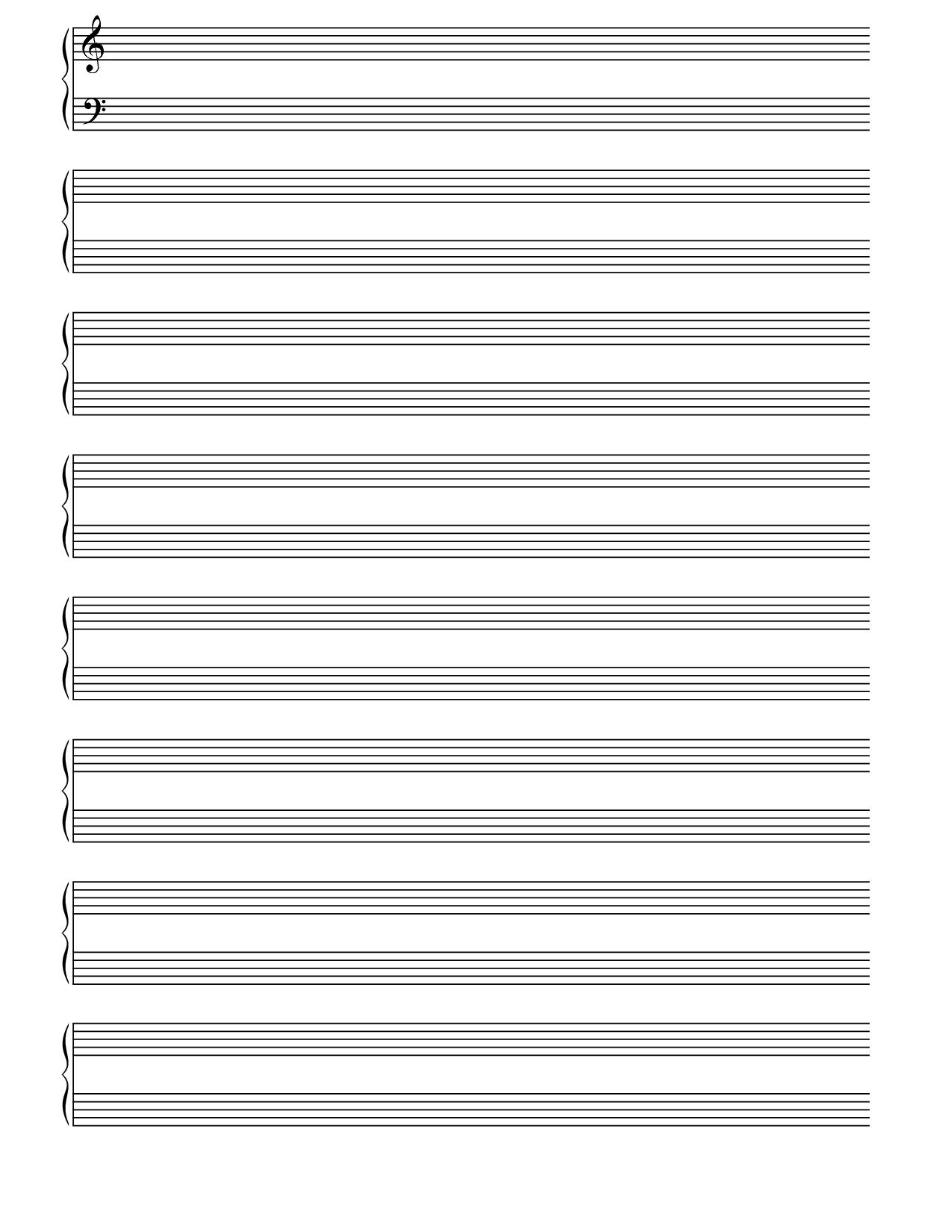 Printable Blank Piano Sheet Music Paper | Print In 2019 | Pinterest - Free Printable Blank Music Staff Paper