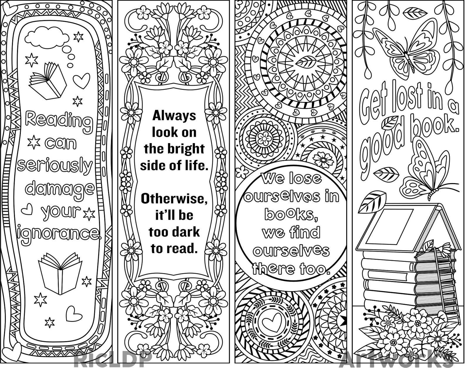 Printable Bookmark Template - Blank Bookmark Templates Make Your Own - Free Printable Blank Bookmarks