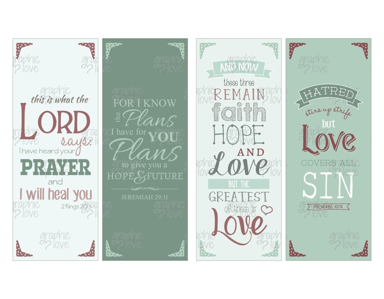Printable Bookmarks With Bible Verses 2018 | Corner Of Chart And Menu - Free Printable Bookmarks With Bible Verses