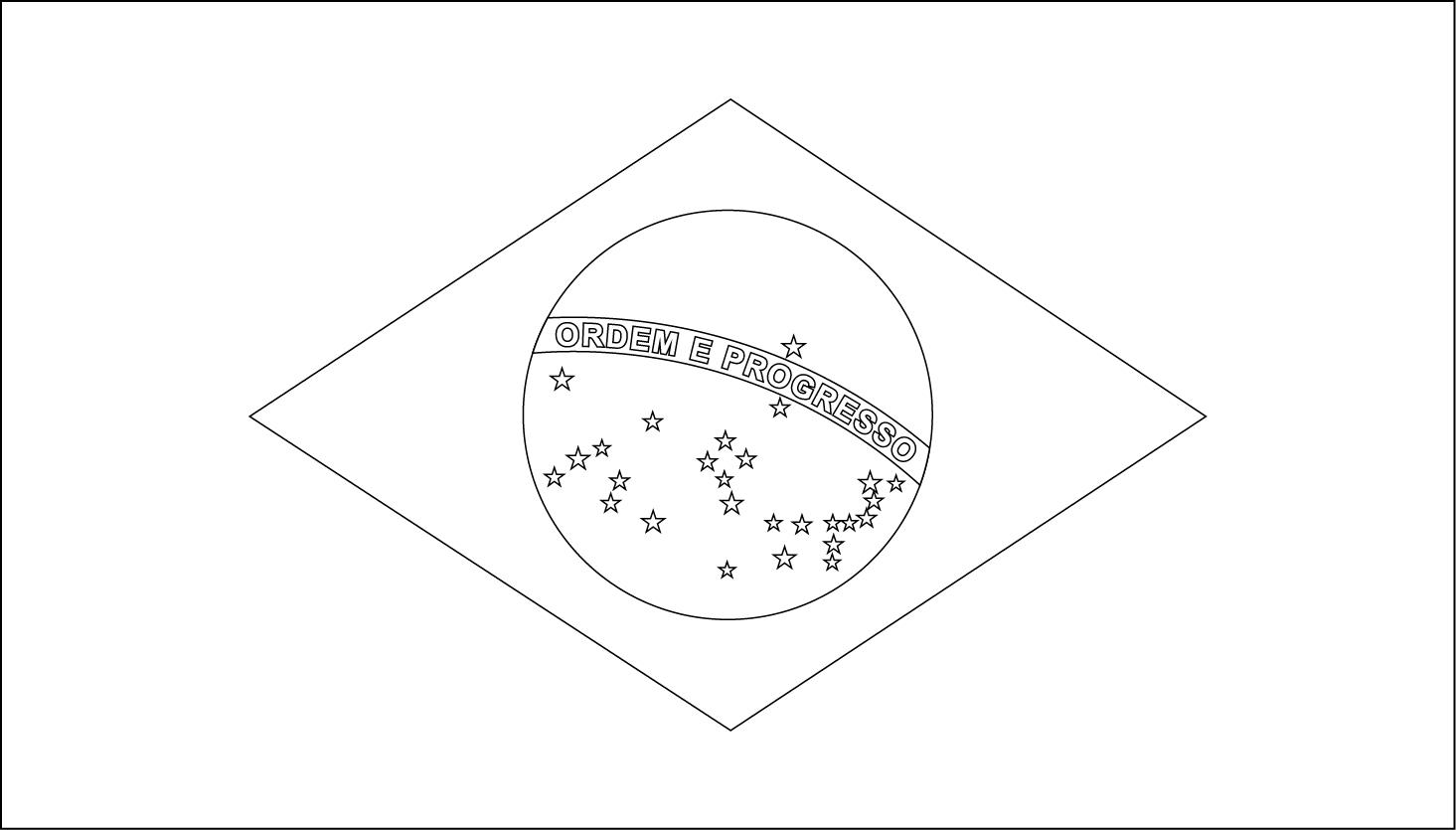 Printable Brazil Flag Coloring Worksheet | Flag Stickers And More - Free Printable Brazil Flag