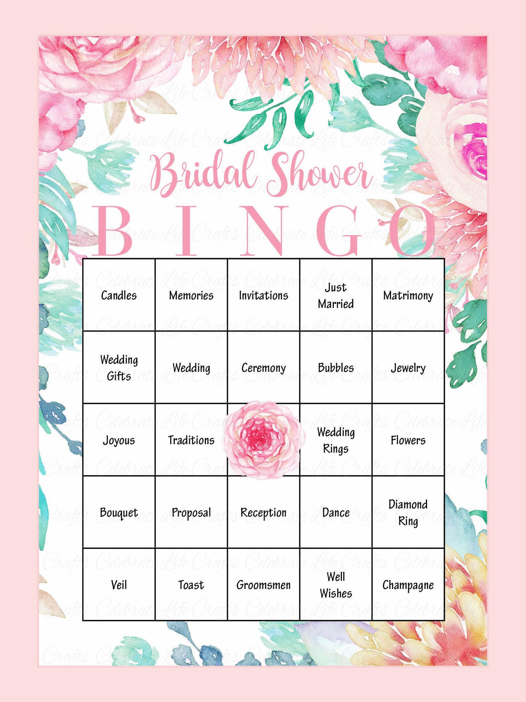 Printable Bridal Shower Bingo Cards | Bridal Showers | Bridal Shower - Free Printable Bridal Shower Bingo