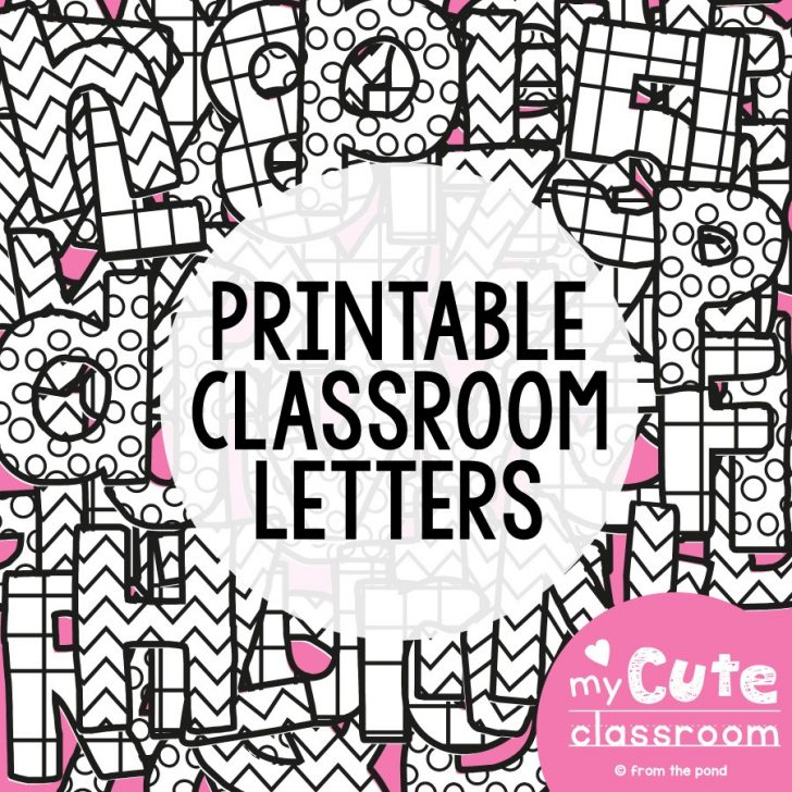 Free Printable Bulletin Board Letters