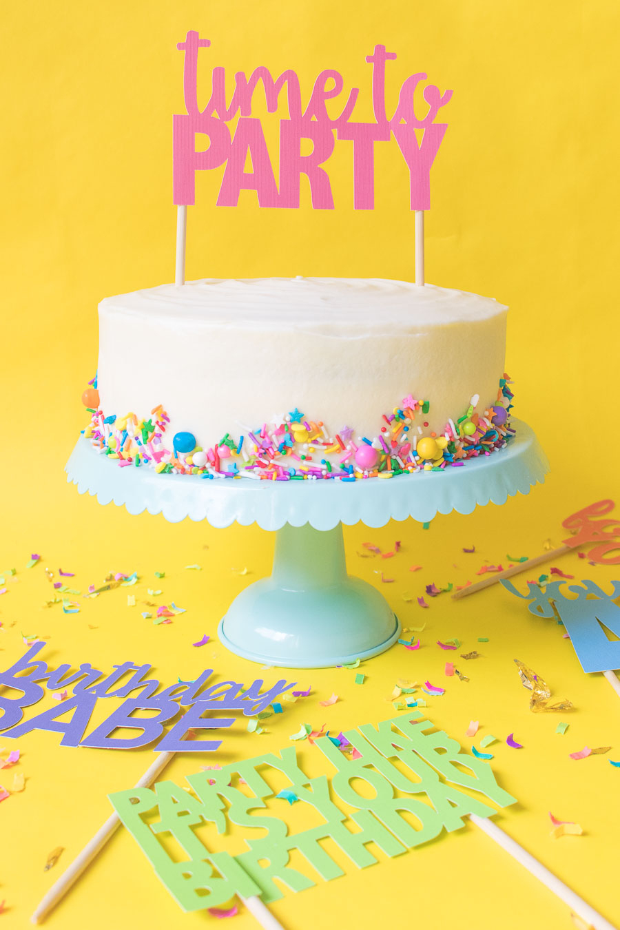 Printable Cake Toppers For Birthdays (+ Free Svg Templates!) - Free Printable Pictures Of Birthday Cakes