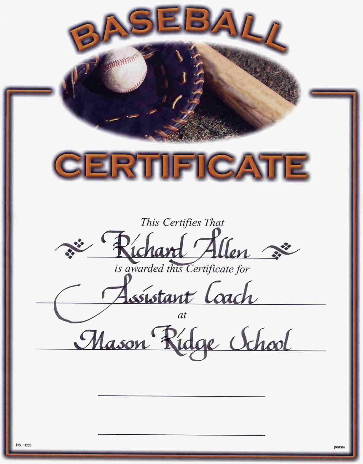 Printable Certificates For Baseball   Download Them Or Print - Free Printable Baseball Certificates