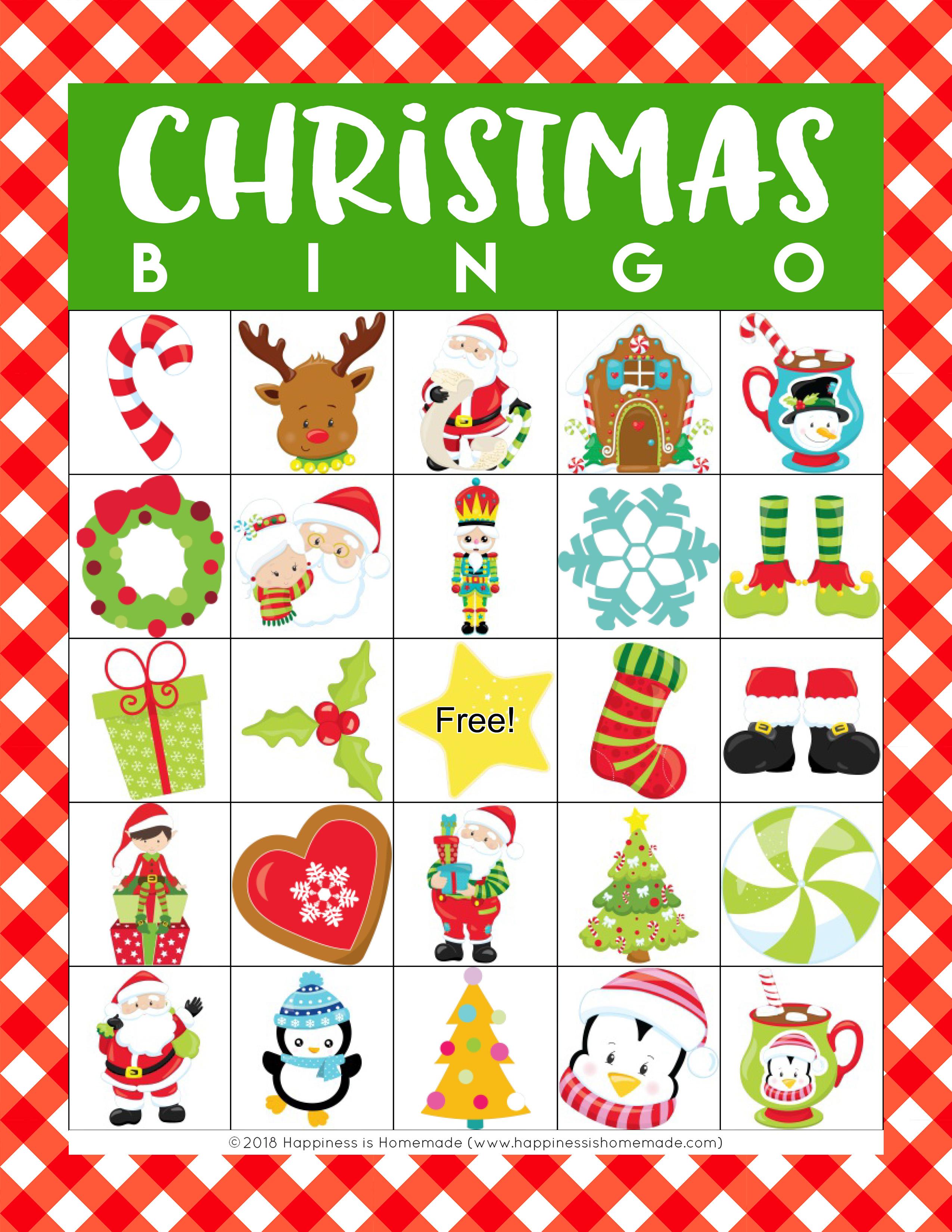 Printable Christmas Bingo Game - Happiness Is Homemade - Free Printable Christmas Bingo