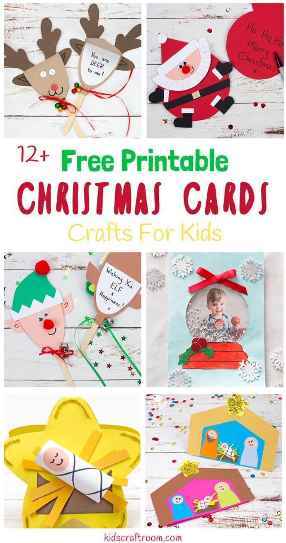 Printable Christmas Cards For Kids - Kids Craft Room - Free Printable Xmas Cards