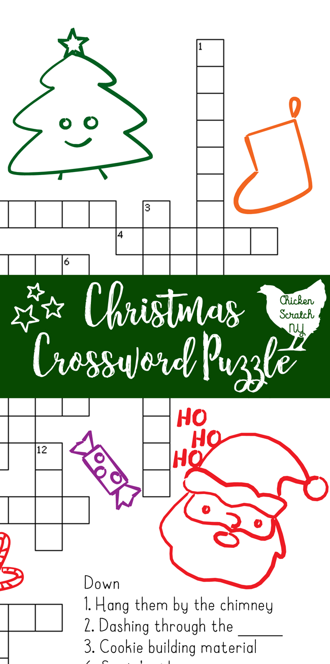 Printable Christmas Crossword Puzzle With Key - Free Printable Christmas Puzzles