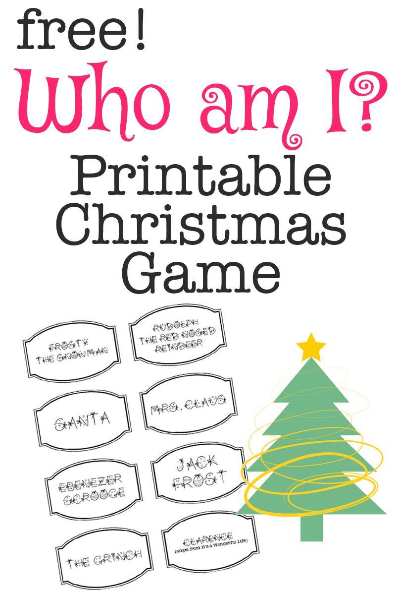 Printable Christmas Game: Who Am I? | Bloggers' Best Diy Ideas - Free Printable Christmas Games For Adults