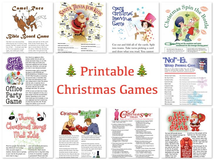 Free Printable Christmas Games For Family Gatherings
