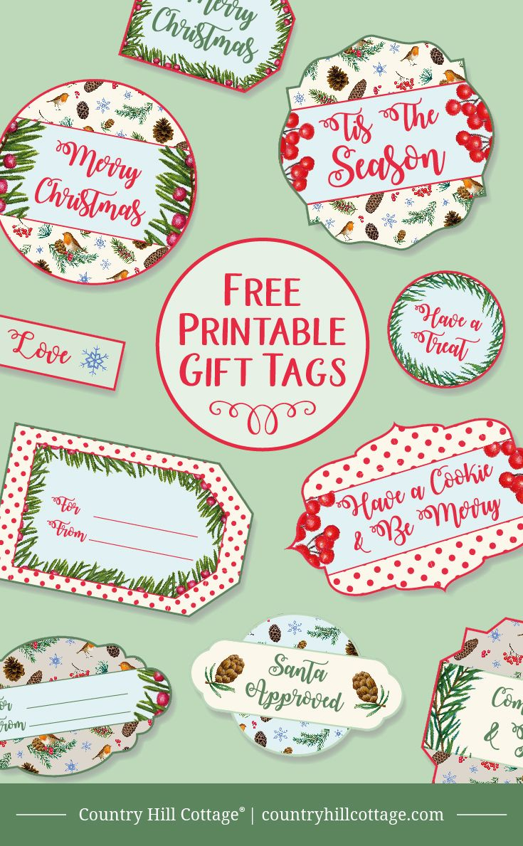 Printable Christmas Gift Tags | Christmas Gifts | Pinterest - Free Printable Christmas Food Labels
