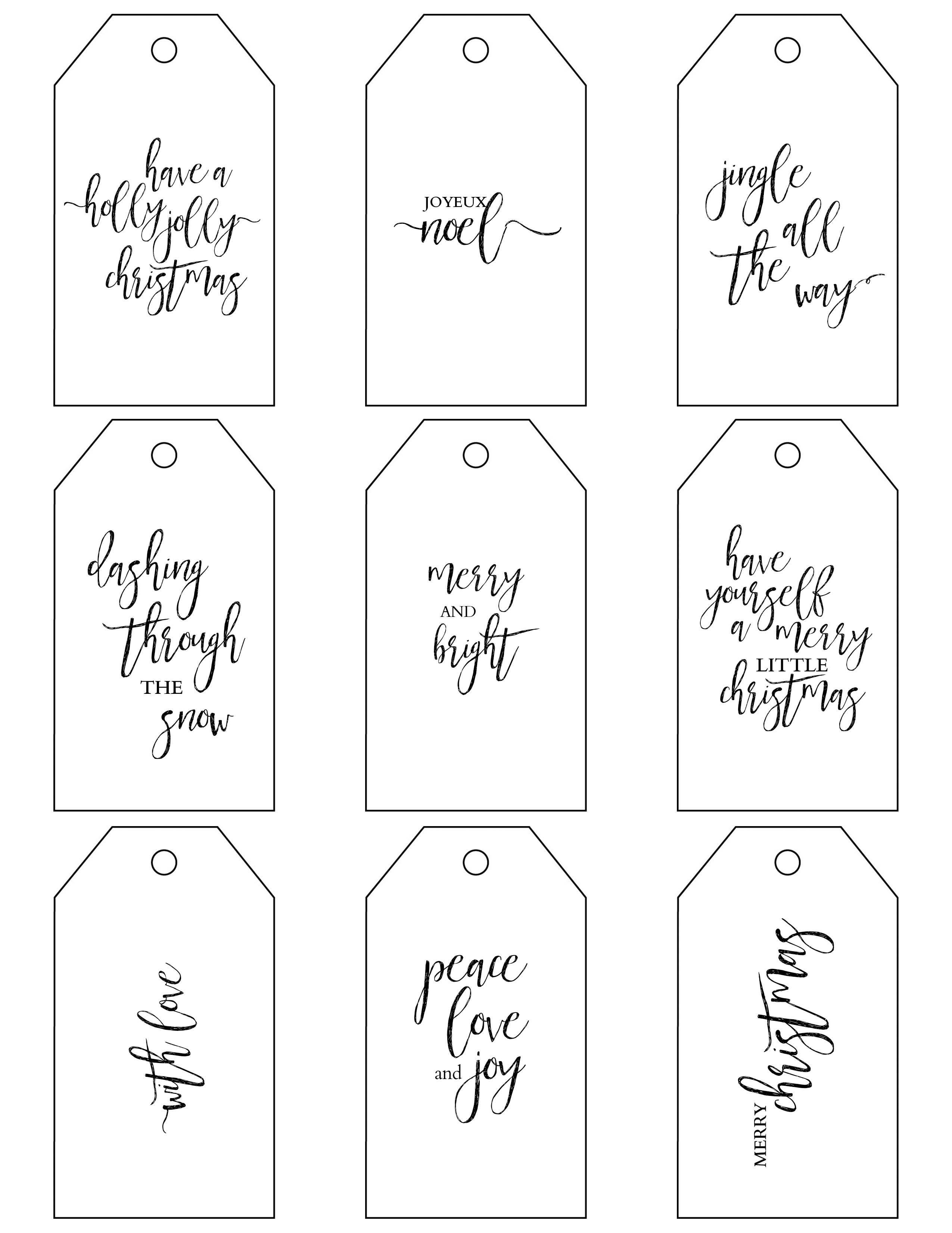 Printable Christmas Gift Tags Make Holiday Wrapping Simple - Free Online Gift Tags Printable