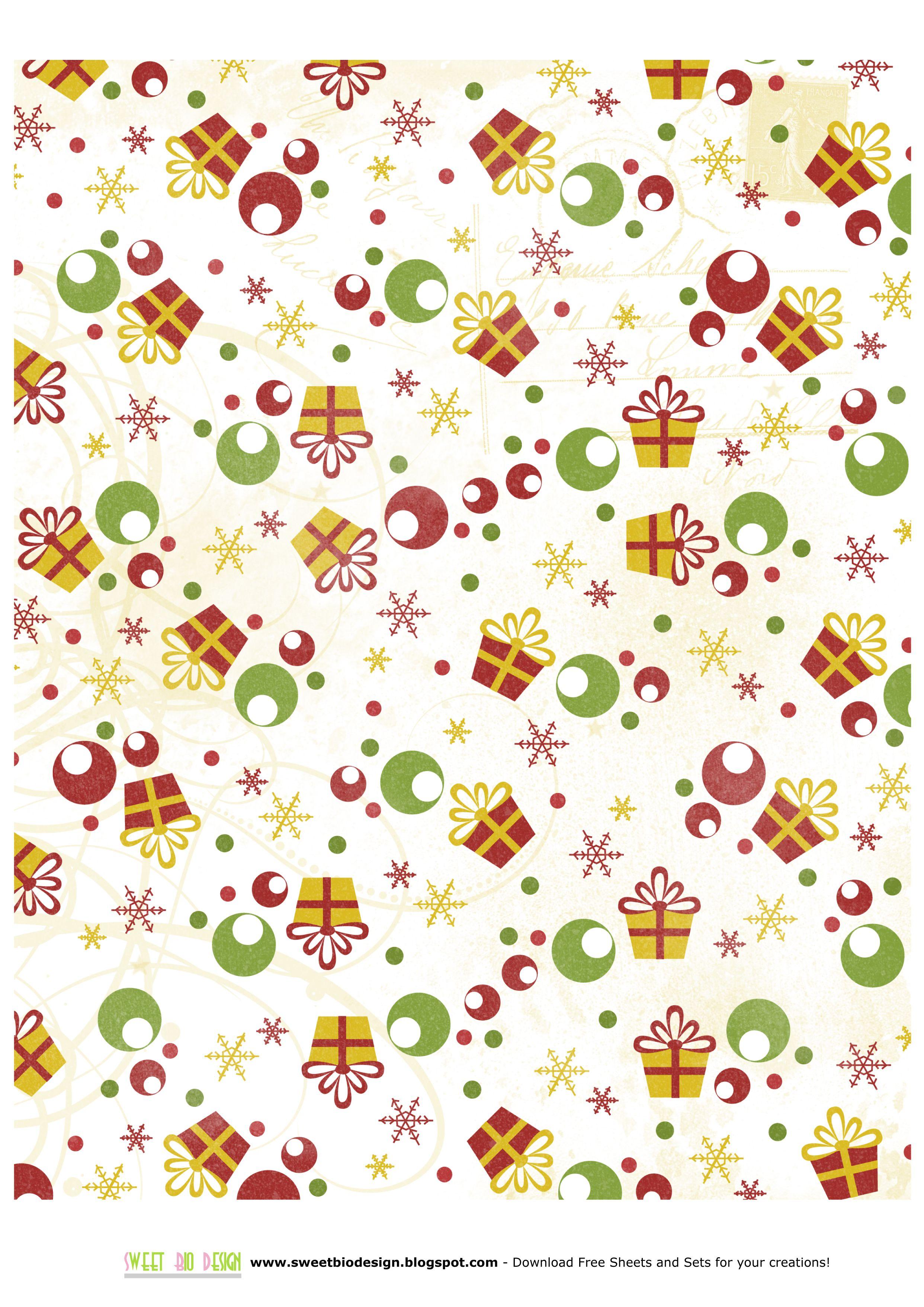 Printable Christmas Paper | Christmas~Background Papers | Pinterest - Free Printable Christmas Paper