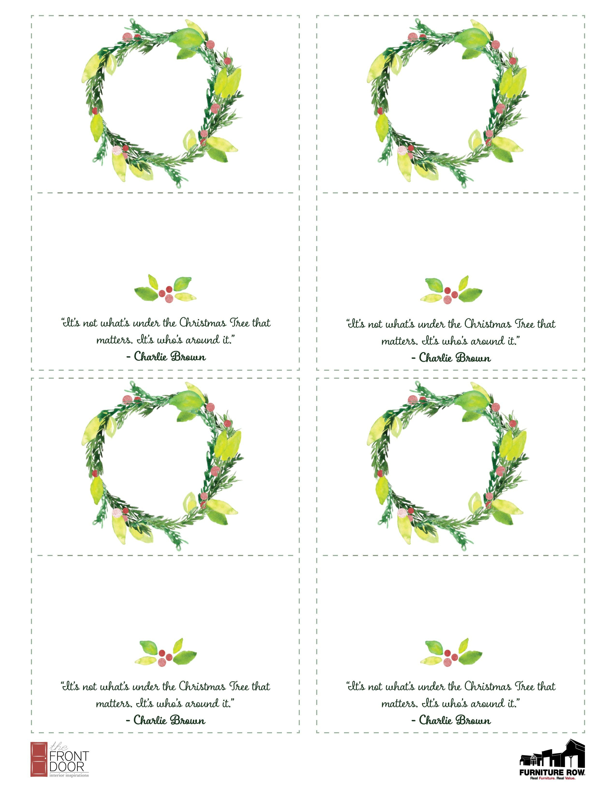 Printable Christmas Place Name Cards For The Table | Holiday - Christmas Table Name Cards Free Printable