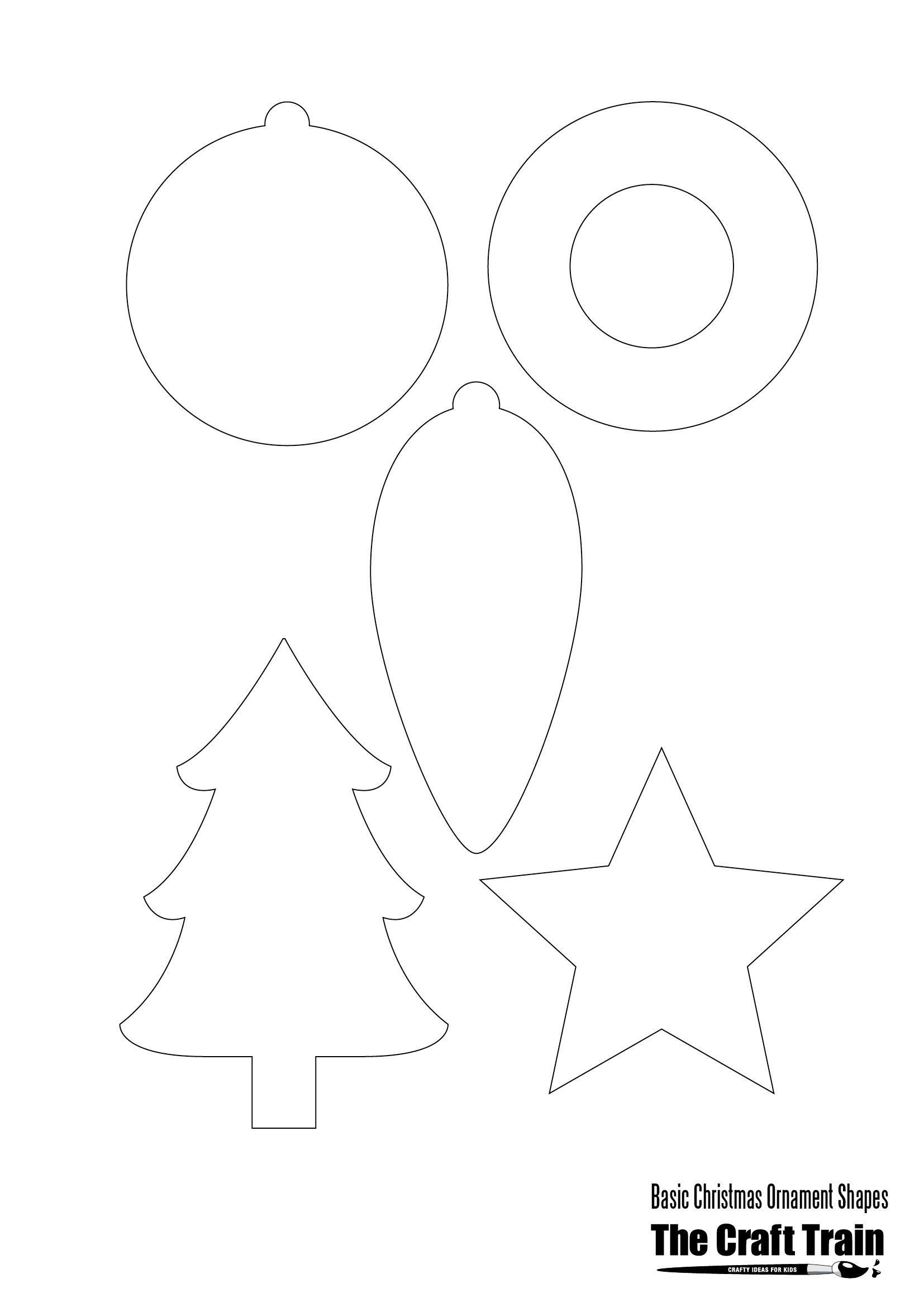 Printable Christmas Shapes | Christmas | Pinterest | Christmas - Free Printable Christmas Cutouts