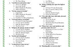 Printable Christmas Song Trivia | Christmas | Christmas Trivia - Free Christmas Picture Quiz Questions And Answers Printable