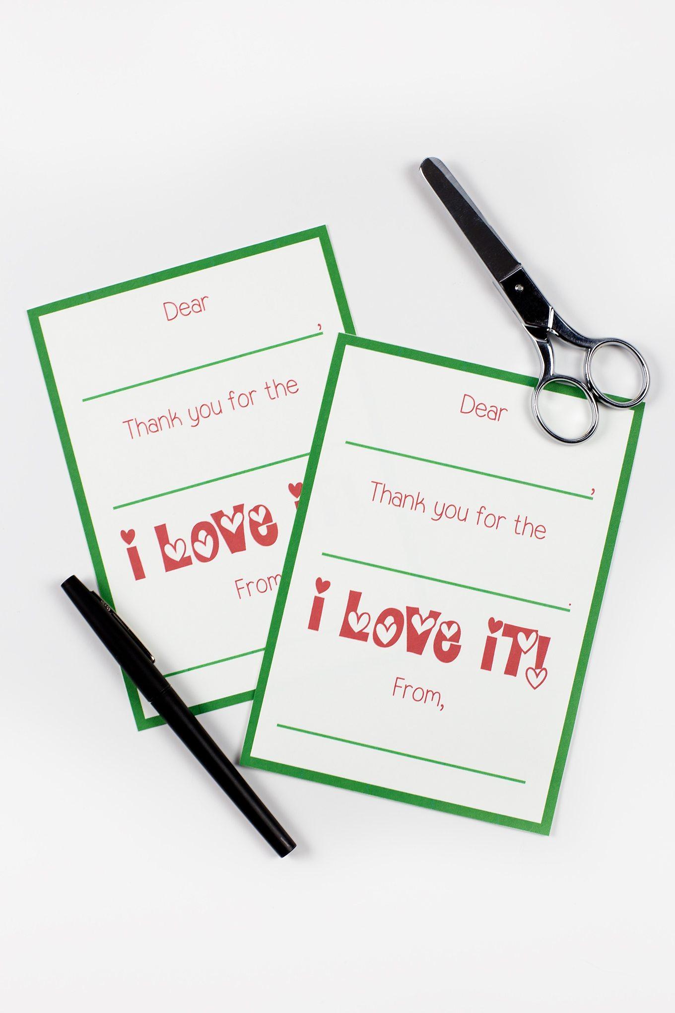 Printable Christmas Thank You Cards - Free Christmas Thank You Notes Printable